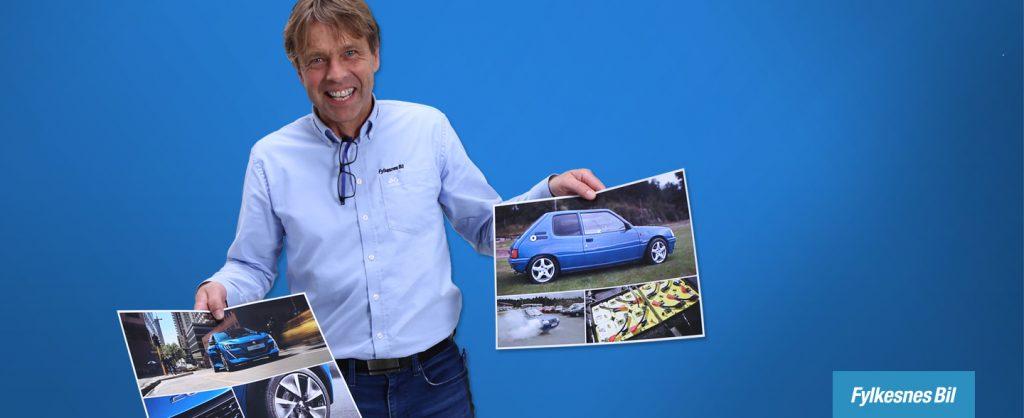 I 1999 bygde Arve Paulsen om sin Peugeot 205 til elektrisk drift. Les historien hans på fylkesnesbil.no