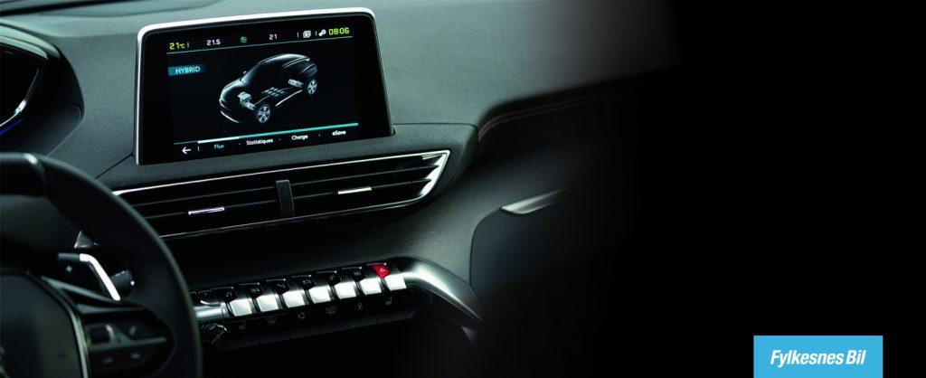 Interiørbilde Peugeot 3008 plug-in hybrid
